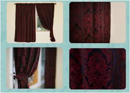Red And Gold Damask Curtains Home Fashion Tips March 2010