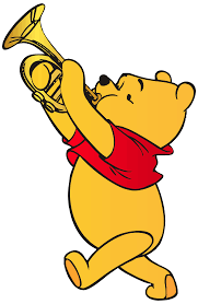 winnie pooh playing trumpet png clip art clipart