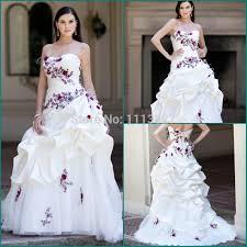 purple white wedding dress cheap purple and white wedding dresses of the dresses