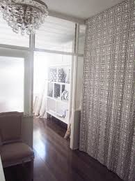 White Wooden Bookcase by Oriental Pattern Bedroom Divider Curtains Mixed White Wooden