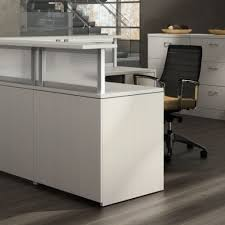 Reception Desk With Display Reception Desks Cubicles Plus