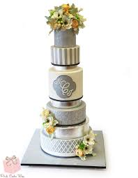 silver wedding cakes gray and silver wedding cake wedding cakes
