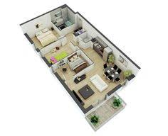 Small Two Bedroom House 4 Bedroom Apartment House Plans Misc Pinterest Bedroom