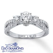 leo diamond ring 14k white gold engagement ring with leo diamonds engagement ring