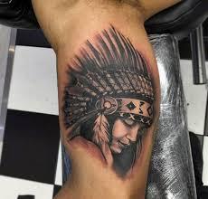 indian headdress tattoo on ribs 100 native american tattoos for men indian design ideas