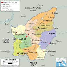 Us Map States And Cities by Detailed Political And Administrative Map Of San Marino With Roads