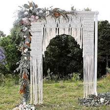 Wedding Arch Greenery 40 Macrame Wedding Ideas That Excite Happywedd Com