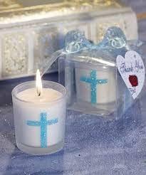 Crystal Baptism Favors Crystal Cross Candle Holder 4 Piece Set By Alychrisboutique