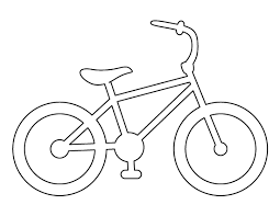 bike pattern use the printable outline for crafts creating