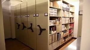 high capacity storage shelving with spinning handles for storing