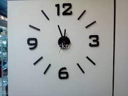 3d wall decal clock aliexpress com buy free shipping 3d wall aliexpress buy free shipping 3d wall stickers clock diy