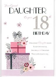 for a special daughter on your 18th birthday card large good