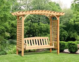 pergola swing plans treated pine greenfield arbor and swing set fifthroom com for