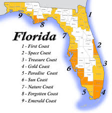 Florida Coast Map Florida Snowbird Paradise Coast