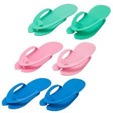 amazon com disposable pedicure salon flip flop slippers nail foam