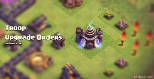 clash of clans all troops troop and spell upgrade orders quick guide clash of clans