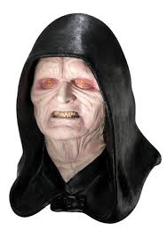 latex halloween mask kits deluxe emperor palpatine mask