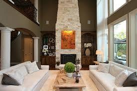 two story living room two story living room fireplace home building plans 57844