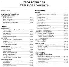 2004 lincoln town car repair shop manual original