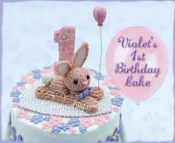 violet u0027s first birthday cake gumpasting com