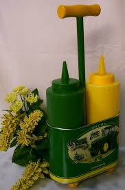 deere kitchen canisters feb 4th 9th deere mustard ketchup holder
