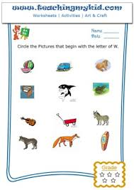 kindergarten printable worksheets circle the pictures that begin