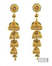 Designer Chandelier Earrings 22k Designer Chandelier Ajer54332 22k Gold Exclusive