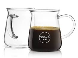 amazon com osaka borosilicate glass coffee mug 10oz capacity
