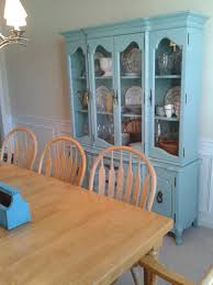 dining room china cabinets before and after the craigslist china cabinet goes blue campclem