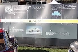 corvette timeline pics the corvette timeline at the 2012 cruise