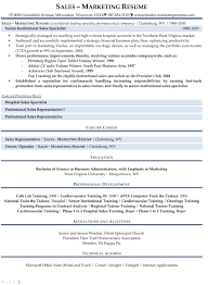 Sample Resume Objectives For Trainers by Resume Samples For Sales And Marketing Jobs