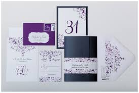 Purple And Silver Wedding Invitations Purple Pewter And White Custom Wedding Invitations
