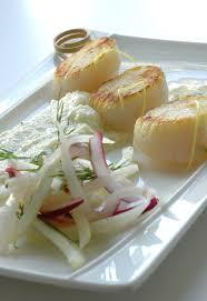 cuisine tv eric leautey noix de jacques poêlées purée de fenouil salade de légumes
