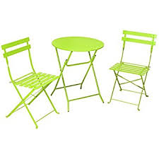 Cosco Folding Table And Chairs Amazon Com Cosco 3 Piece Folding Bistro Style Patio Table And