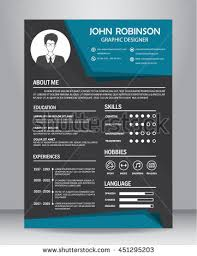 cv design resume cv design template layout stock vector 451295203