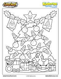 christmas tree coloring page eson me