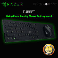 razer turret living room gaming mouse and lapboard pc gaming on