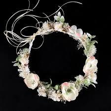 hair wreath fashion feminine jewelry white flower crown wedding hair