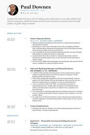 sample resume for financial services financial services