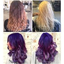deep purple color formula purple to lavender color melt career modern salon