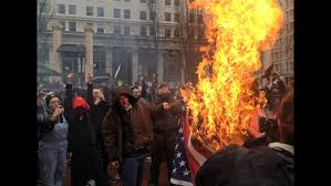 Flag Burning Protest Nw Protests Man Shot In Seattle Tear Gas In Portland Ktvz
