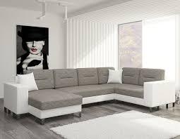 canape bicolore design canapé d angle panoramique bicolore avec coffre de rangement