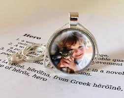 personalized photo pendant necklace custom photo pendant etsy