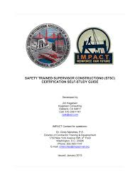 safety trained supervisor construction stsc