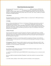 contract investment contract template