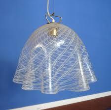 Murano Glass Lighting Pendants by Fazzoletto Murano Glass Pendant From Kalmar 1960s 56115