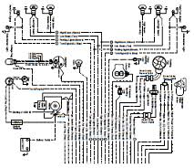 opel manta ascona electrical circuit and wiring harness diagram