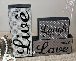 Wooden Words Home Decor Live Laugh Love Home Decor Live Laugh Love Decorative Tile By On