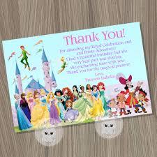 jake and the neverland pirates birthday invites disney princess thank you card princess and pirates card