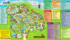 Orlando Parks Map by Map Legoland California California Map